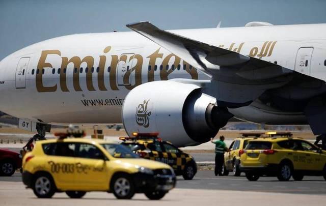 """إحدى طائرات شركة """"طيران الإمارات"""""""