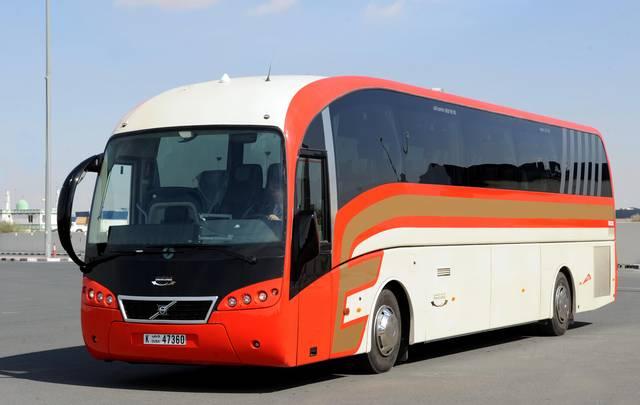 إحدى الحافلات التابعة لهيئة طرق ومواصلات دبي