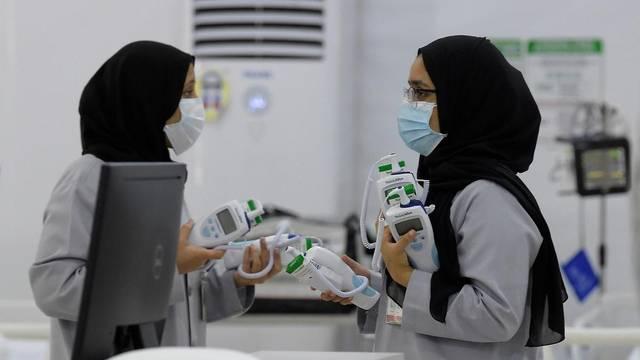 داخل أحد مراكز العزل الصحي في البحرين