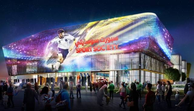 The UAE's developer Viva City and contractor Khansaheb have made key progress in the construction of the world's largest sports mall, Sport Society.