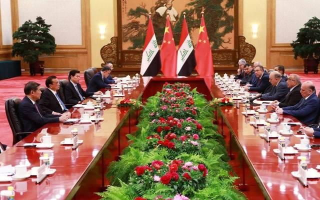 جانب من زيارة رئيس الوزراء العراقي السابق والوفد المرافق له الصين على هامش مشاركته بمؤتمر التصنيع العالمي في مدينة (خيفي)