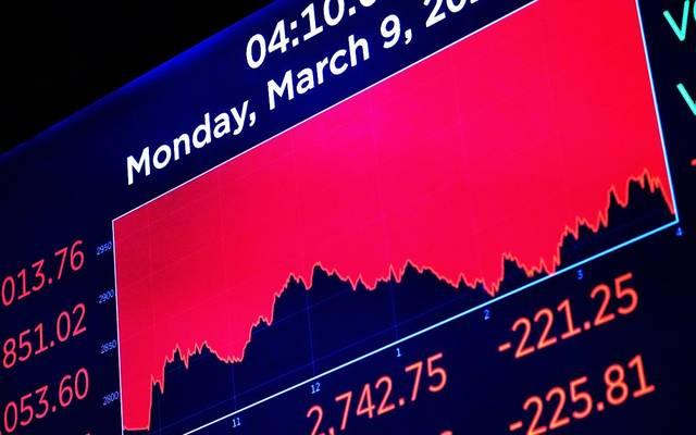 شاشة التداول بإحدى أسواق المال العالمية يوم الاثنين ـ ارشيفية