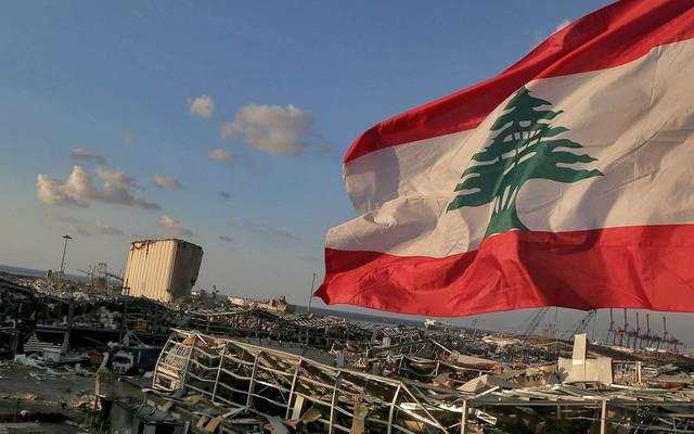 جانب من أثار إنفجار مرفأ بيروت