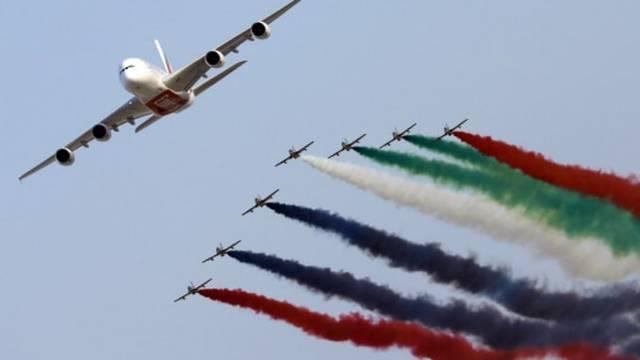 انطلاق فعاليات اليوم الثاني من معرض دبي للطيران