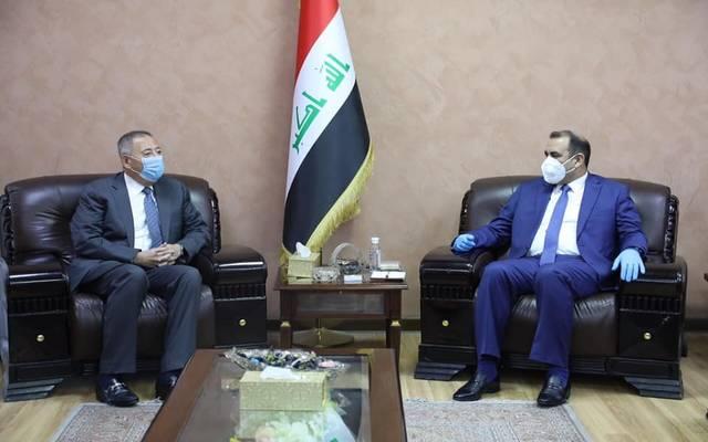 وزير التخطيط العراقي، خالد بتال النجم، يبحث العلاقات الثنائية مع سفير المملكة الأردنية الهاشمية، منتصر الزعبي