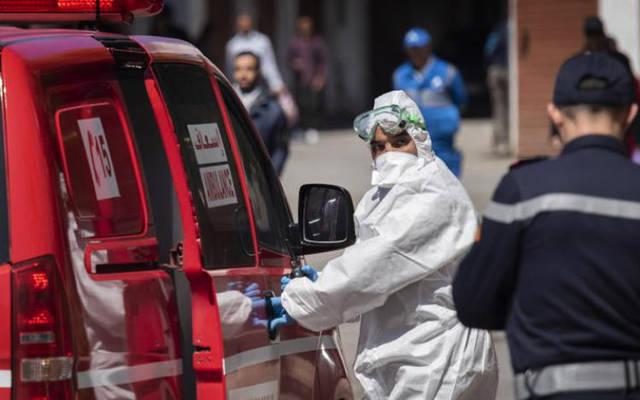 سيارة إسعافات لنقل حالات الإصابة في المغرب