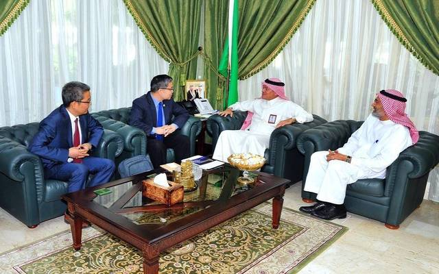 The meeting discussed potential petrochemical investment opportunities in the Yanbu Industrial City