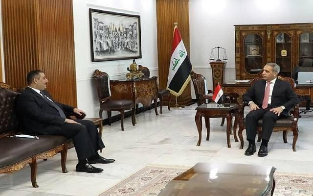 جانب من لقاء محافظ البنك المركزي العراقي، مصطفى غالب، رئيس مجلس القضاء الأعلى، فائق زيدان
