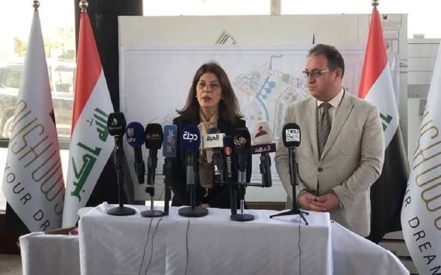 رئيس هيئة الاستثمار العراقية سهى النجار خلال تفقد مشروعات استثمارية في نينوى