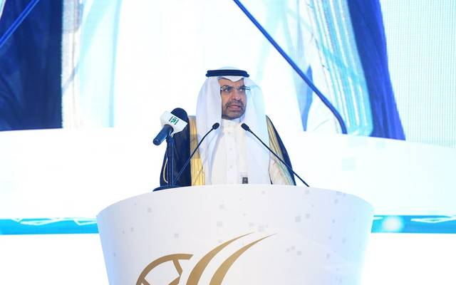 رئيس مدينة الملك عبدالله للطاقة الذرية والمتجددة، خالد بن صالح السلطان، خلال كلمة في المؤتمر السعودي التاسع للشبكات الذكية 2019