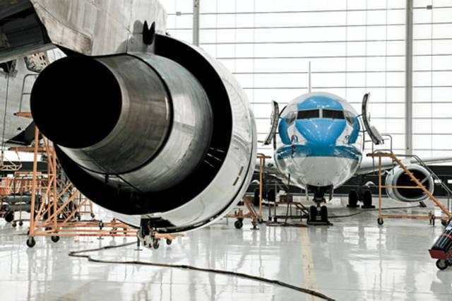 أحد مواقع العمل التابعة لشركة سند لتقنيات الطيران