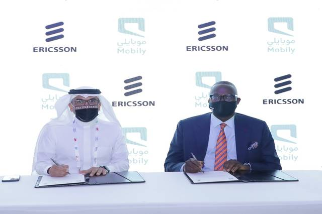 During signing Mobily-Ericsson agreement