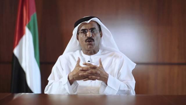 وزير تطوير البنية التحتية عبد الله بلحيف النعيمي