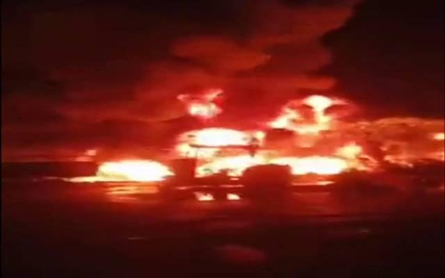 حريق خط المنتجات البترولية بإيتاي البارود