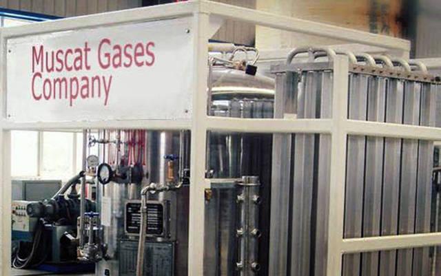 خطوط ضغط الغاز بشركة مسقط للغازات