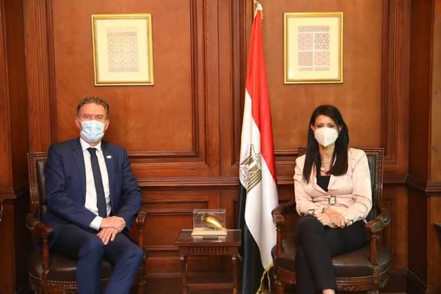 Minister Rania El-Mashat and Ambassador Ib Petersen