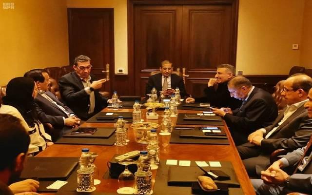 جانب من اجتماع مجلس الأعمال المشترك في نيوديلهي