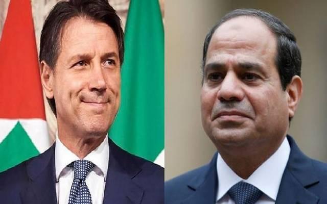 الرئيس السيسي ورئيس وزراء إيطاليا