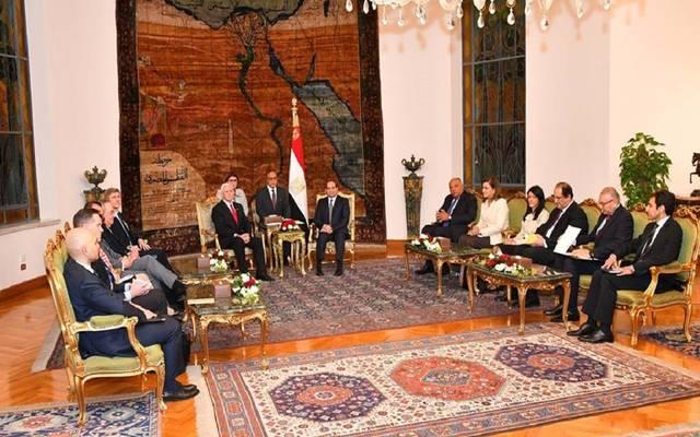 الرئيس السيسي خلال لقاء نائب الرئيس الأمريكي