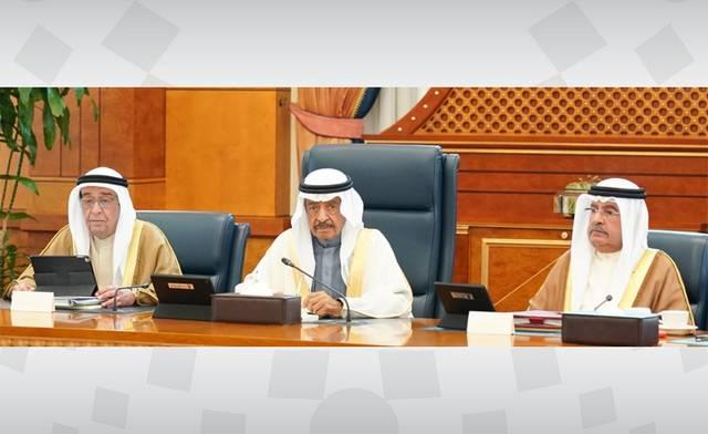 جانب من اجتماع مجلس وزراء مملكة البحرين اليوم