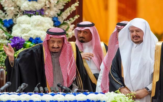 خادم الحرمين الشريفين الملك سلمان بن عبد العزيز في مجلس الشورى السعودي اليوم لإقاء الخطاب السنوي