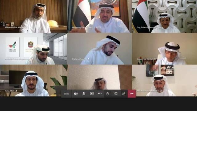 جانب من اجتماع وزارة الاقتصاد الإماراتية