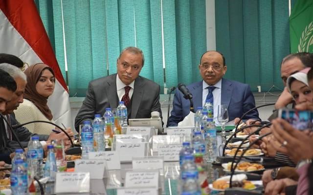 جانب من اللقاء اليوم بديوان محافظة القليوبية