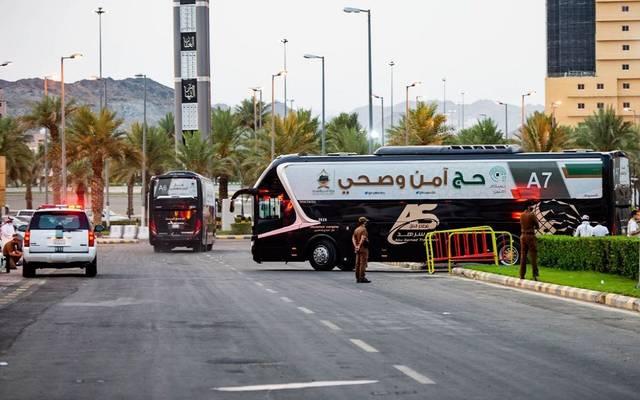 حافلات مخصصة لنقل الحجاج في موسم حج 2020