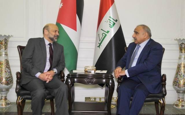 لقاء سابق بين رئيسا وزراء العراق والأردن