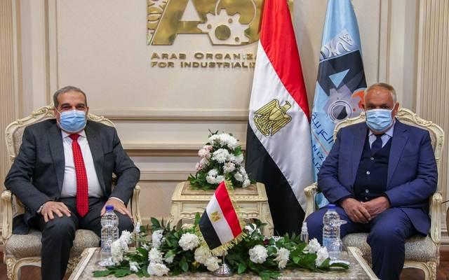 جانب من اجتماع رئيس الهيئة العربية للتصنيع مع وزير الدولة للانتاج الحربي