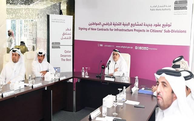 """""""أشغال"""" قطر توقع 10 عقود إنشائية بـ4 مليارات ريال"""