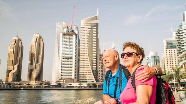 About 85% of UAE residents are between the ages of 25 and 55.