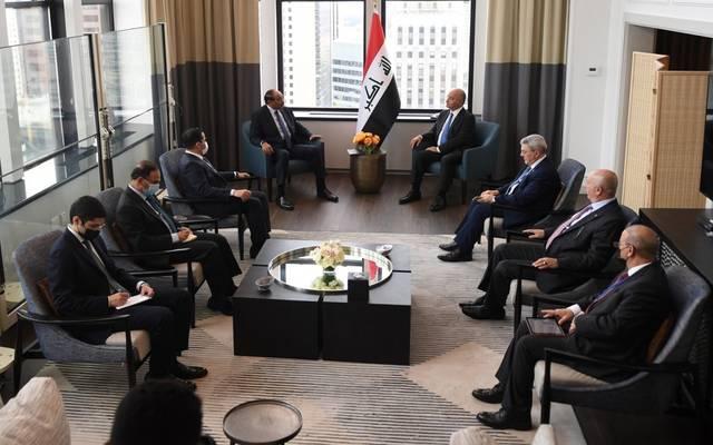 الرئيس العراقي يستقبل رئيس الوزراء الكويتي في نيويورك