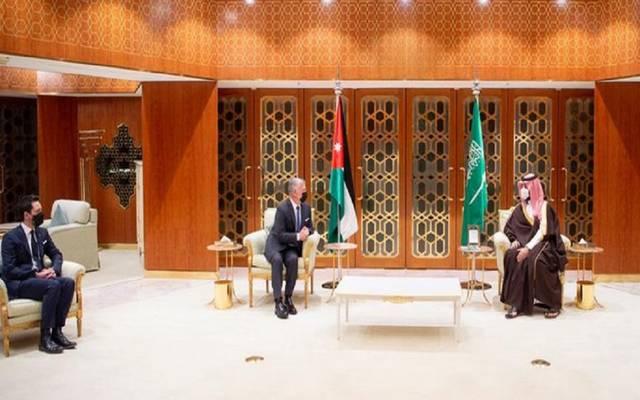 ولي العهد السعودي خلال لقاء العاهل الأردني
