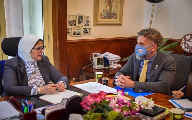 """وزيرة الصحة تستقبل ممثل منظمة """"اليونيسف"""" بمصر لبحث سبل التعاون في المجال الصحي"""