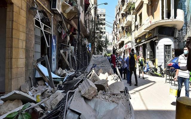 صورة لأضرار انفجار بيروت