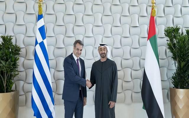 لقاء سابق بين الشيخ محمد بن زايد وكيرياكوس ميتسوتاكيس رئيس وزراء اليونان
