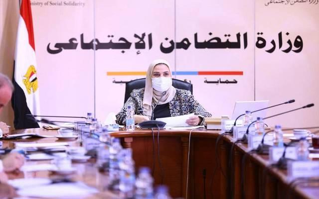 The Egyptian Minister of Social Solidarity, Nivine El-Kabbag.