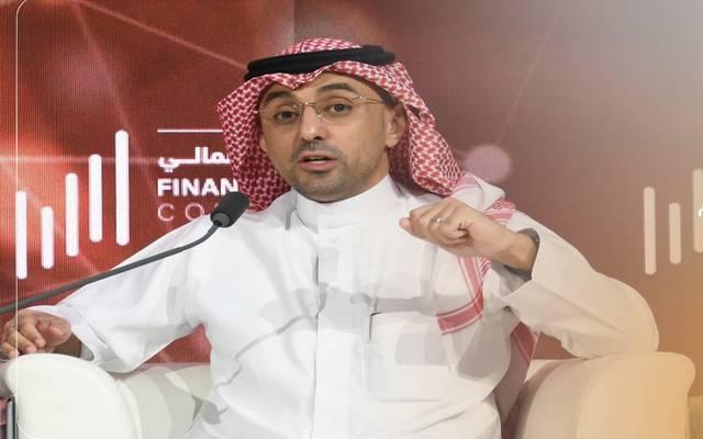 الرئيس التنفيذي المكلف للمركز الوطني لإدارة الدين بالسعودية، هاني المديني خلال أولى جلسات مؤتمر القطاع المالي