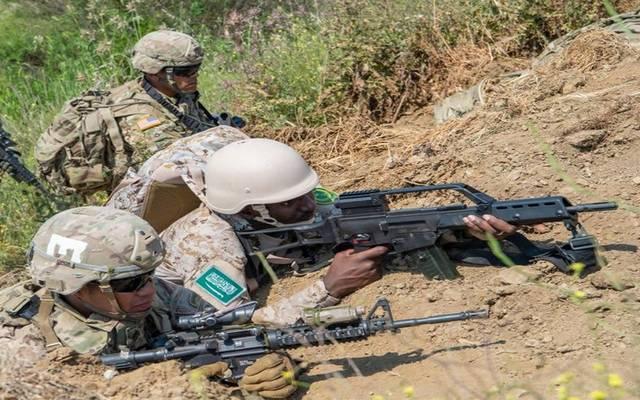 جانب من تدريب لقوات الجيش السعودي