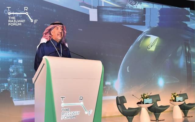 الرئيس التنفيذي للشركة السعودية للخطوط الحديدية سار بشار المالك خلال منتدى السكك الحديدية في الرياض 28 يناير 2020