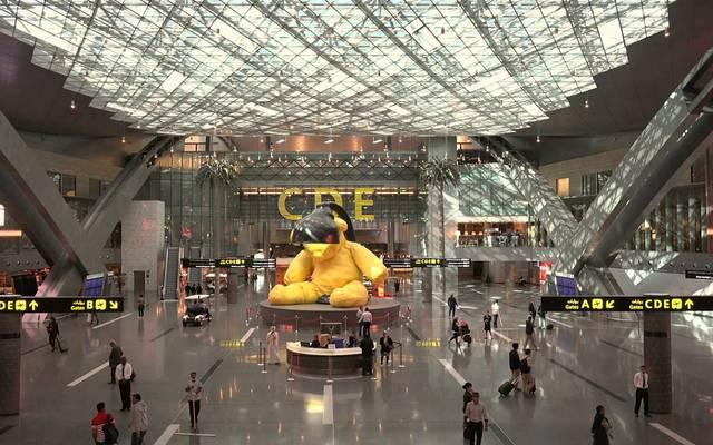 داخل مطار حمد الدولي في قطر