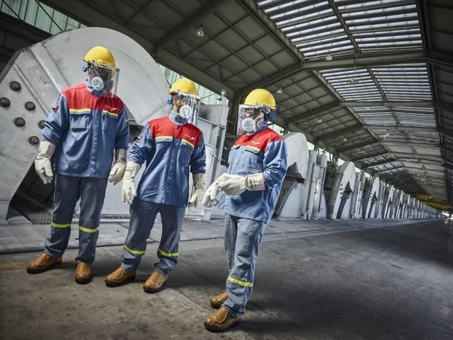 أحد المصانع التابعة لشركة الإمارات العالمية للألمنيوم