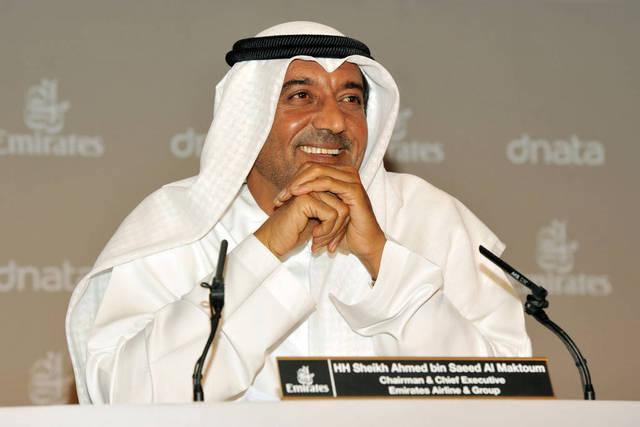 الشيخ أحمد بن سعيد آل مكتوم الرئيس التنفيذي ورئيس مجلس إدارة مجموعة طيران الإمارات