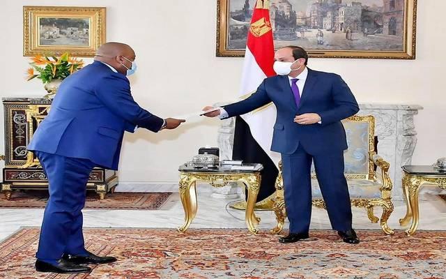 السيسي يتسلم رسالة من الرئيس فليكس تشيسكيدي