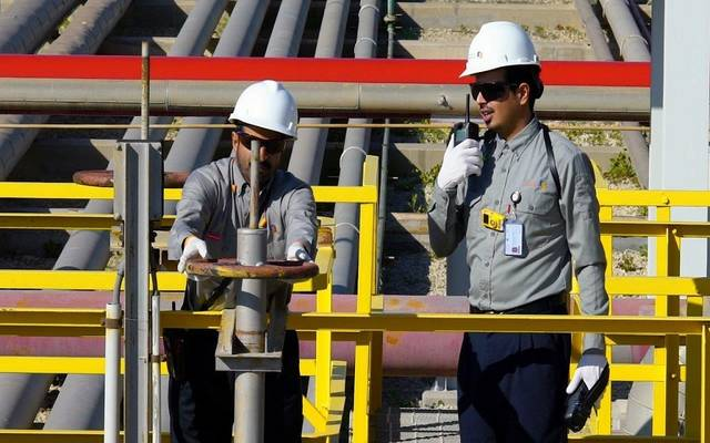 جانب من أعمال مصفاة ساسرف المملوكة لشركة أرامكو السعودية في مدينة الجبيل الصناعية