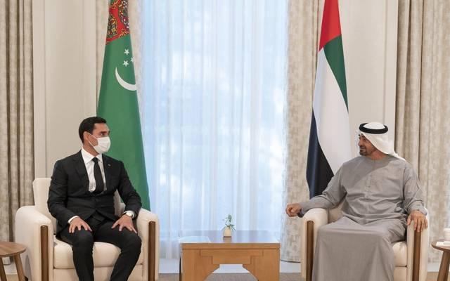 محمد بن زايد يتلقى رسالة من رئيس تركمانستان بشأن تعزيز التعاون الاقتصادي