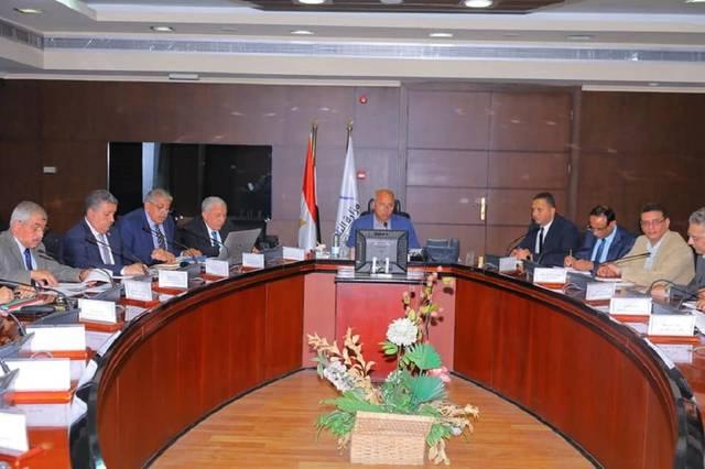 جانب من اجتماع كامل الوزير، وزير النقل مع رؤساء هيئات الموانئ البحرية المصرية