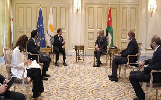 ملك الأردن يبحث مع رئيس قبرص سبل تعزيز التعاون في شتى المجالات