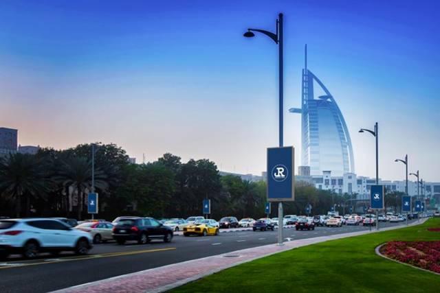 البرج السكني يقع في شارع التلال بمدينة دبي